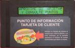 Punto de información tarjeta de cliente